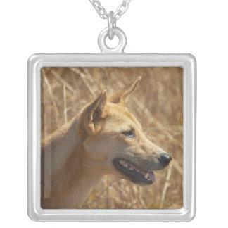 Dingo (Canis lupus dingo) Silver Plated Necklace