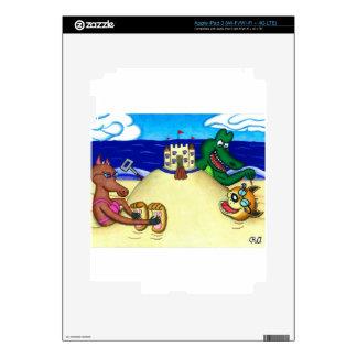 Dingo cosquilloso enterrado en la playa iPad 3 pegatinas skins