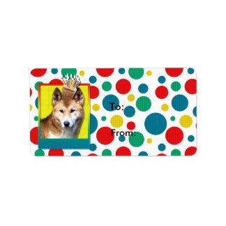 Dingo de la magdalena del cumpleaños etiquetas de dirección
