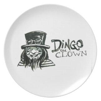 Dingo Dizmal portrait done by Kevin Reynolds. Dinner Plate