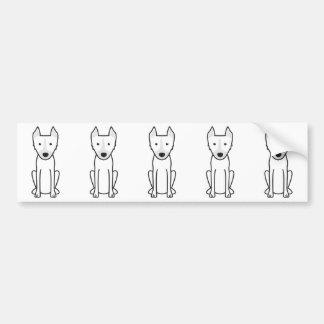 Dingo Dog Cartoon Bumper Sticker
