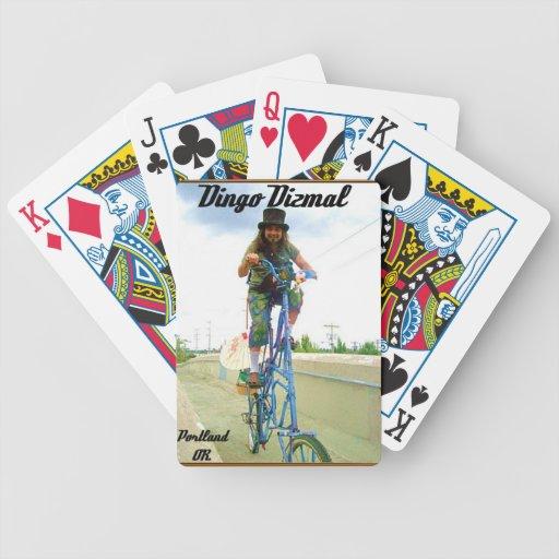 Dingo on his tall bike. card deck