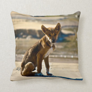 Dingo puppy throw pillow