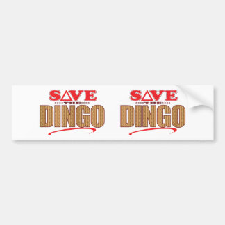 Dingo Save Bumper Sticker