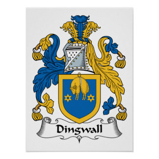 Dingwall Family Crest Posters