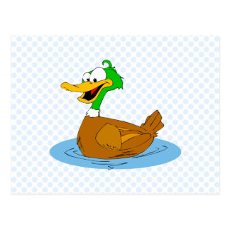 Dingy Duck Postcard