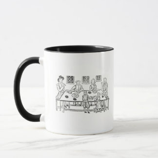 Dining at Home, from the Roxburghe ballads Mug