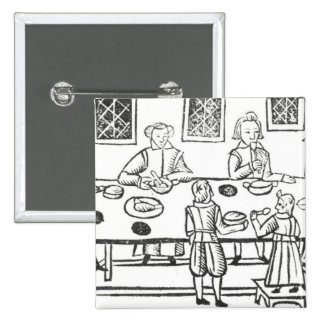 Dining at Home, from the Roxburghe ballads Pinback Button