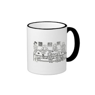 Dining at Home, from the Roxburghe ballads Ringer Mug