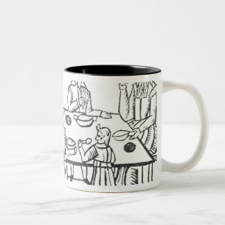 Dining at Home, from the Roxburghe ballads Two-Tone Coffee Mug