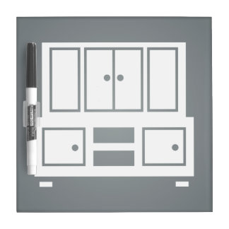 Dining Cabinets Minimal Dry-Erase Board