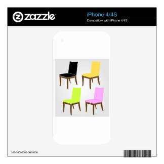 dining chair decals for iPhone 4