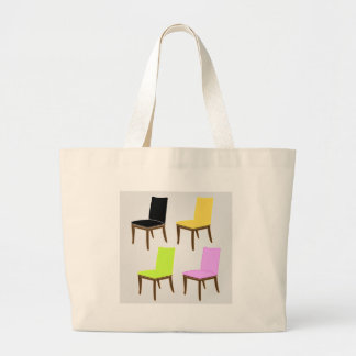 dining chair large tote bag