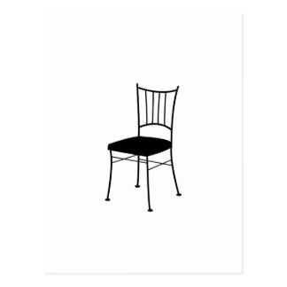 dining chair postcard