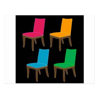 dining chair postcard
