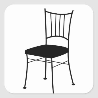 dining chair square sticker