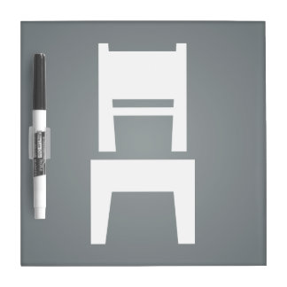 Dining Chairs Pictograph Dry Erase Boards