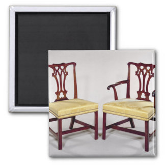 Dining chairs, with interlaced splat backs magnet