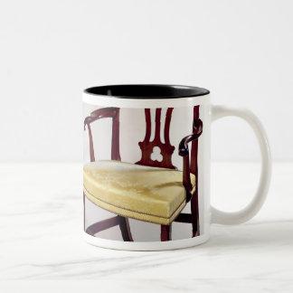 Dining chairs, with interlaced splat backs Two-Tone coffee mug