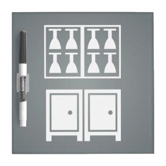 Dining Glasses Pictogram Dry Erase Board