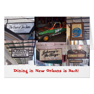 Dining in New Orleans is Back! Card