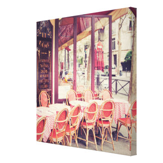 Dining In Paris Al Fresco Canvas Print