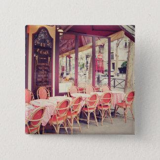 Dining In Paris Al Fresco Pinback Button