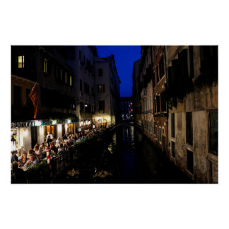 Dining in Venice Poster