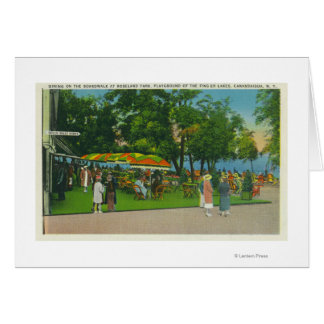 Dining on the Boardwalk at Roseland Park Scene Card