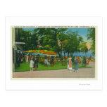 Dining on the Boardwalk at Roseland Park Scene Postcard