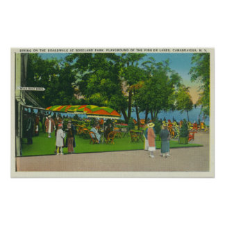 Dining on the Boardwalk at Roseland Park Scene Poster