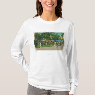 Dining on the Boardwalk at Roseland Park Scene T-Shirt