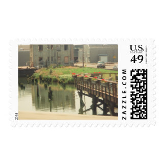 Dining on the Porch Postage Stamp