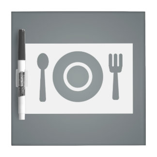Dining Plates Graphic Dry-Erase Boards