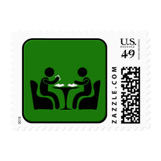 Dining Postage Stamp