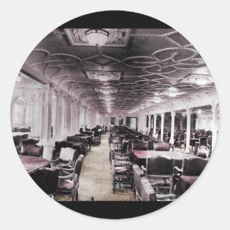 Dining Room Aisle Titanic Classic Round Sticker