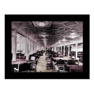 Dining Room Aisle Titanic Postcard