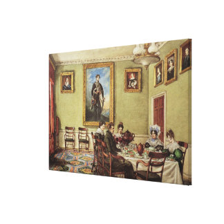 Dining room at Langton Hall Canvas Print