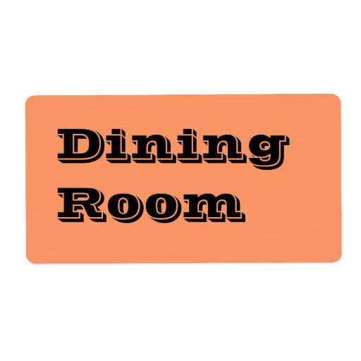 Dining Room Moving Labels In Orange Zazzle