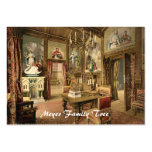Dining Room, Neuschwanstein Castle, Germany Business Card Templates