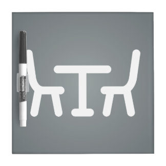Dining Rooms Icon Dry Erase Board