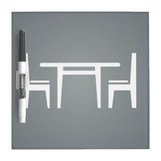 Dining Sets Minimal Dry Erase Whiteboard