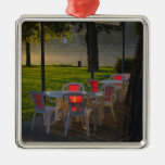Dining table and chairs by the Danube River, Christmas Ornaments