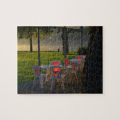 Dining table and chairs by the Danube River, Puzzles