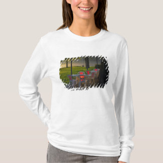 Dining table and chairs by the Danube River, T-Shirt