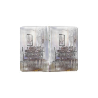 dining table pocket moleskine notebook cover with notebook