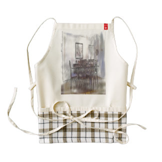 dining table zazzle HEART apron