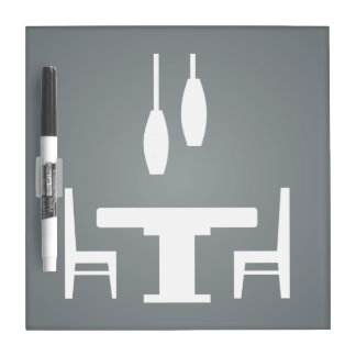 Dining Tables Pictograph Dry Erase Whiteboards