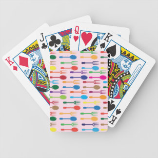 Dining Texture Bicycle Playing Cards