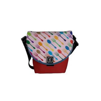 Dining Texture Messenger Bag